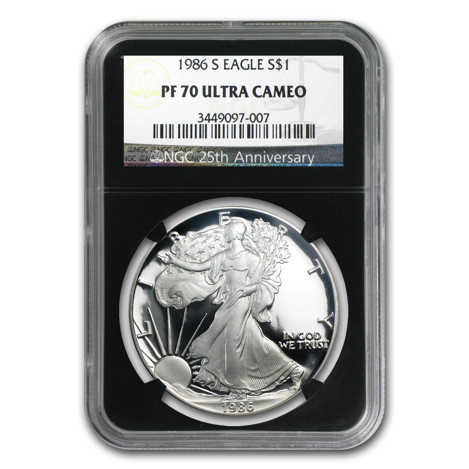 1986-2012 26-Coin Silver Eagle Set PF-70 NGC (Black Insert)
